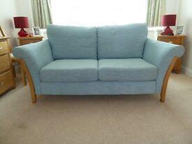 Ercol 3 seater sofa pale blue