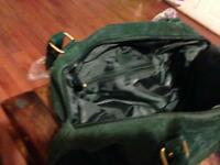 Green swede handbag