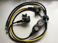 Mares Abyss Regulator, Octopus MV, Suunto Gauges