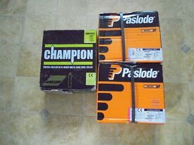 Paslode & Champion Ring Shank Nails 3 Boxes (Can be sold separately, on request)