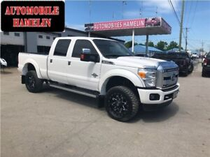 2015 Ford F-350 Platinum crew 6.5 pieds gps toit mags
