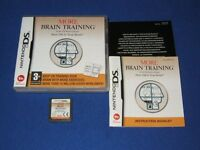 Nintendo ds & Nintendo 3ds brain training boxed working and in new condition