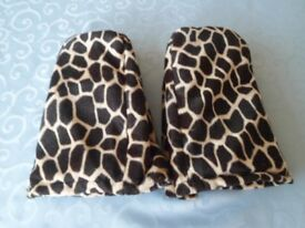 Super Leopard Design Warm me up Microwavable Foot Warmers rrp £39.99 VGC