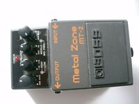 BOSS by Roland MT-2 Metal Zone stompbox/pedal/effects unit for electric guitar - Taiwan - Boxed