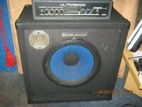 Behringer BXR 1800H Amp head & BA115 Bass Cabinet (for sale due to studio clearout)