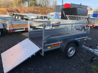 BRAND NEW MODEL 6X4 SINGLE AXLE TRAILER WITH 40CM MESH AND RAMP TRAILER