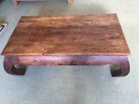 Heavy bespoke wooden coffee table