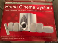 DURABRAND HOME CINEMA SURROUND SOUND SYSTEM, BRAND NEW IN BOX