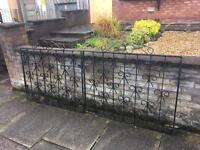 set of wrought iron driveway gates / double gates £35