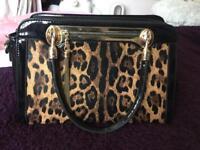 Patent Leopard Handbag