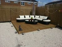 SLABBING-DECKING-TURFING-FENCING-FOR ALL YOUR GARDEN REQUIREMENTS THIS SUMMER TAKE A LOOK BELOW ....
