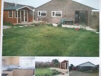 Three bedroom bungalow with garage and garden to let at crossways near Dorchester