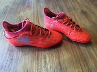 football boots size 1 adidas suarez red