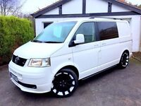 **..114K..** VW T5 VOLKSWAGEN TRANSPORTER TDI WHITE 1.9 SWB VAN CAMPER DAY CADDY SURF