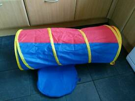 Children pop up play tunnel, only used indoors
