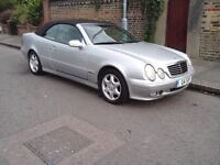 mercedes clk 320 auto convertible (comes with £800 private plate)