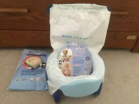 NEW Potette portable potty/ toilet seat + liners