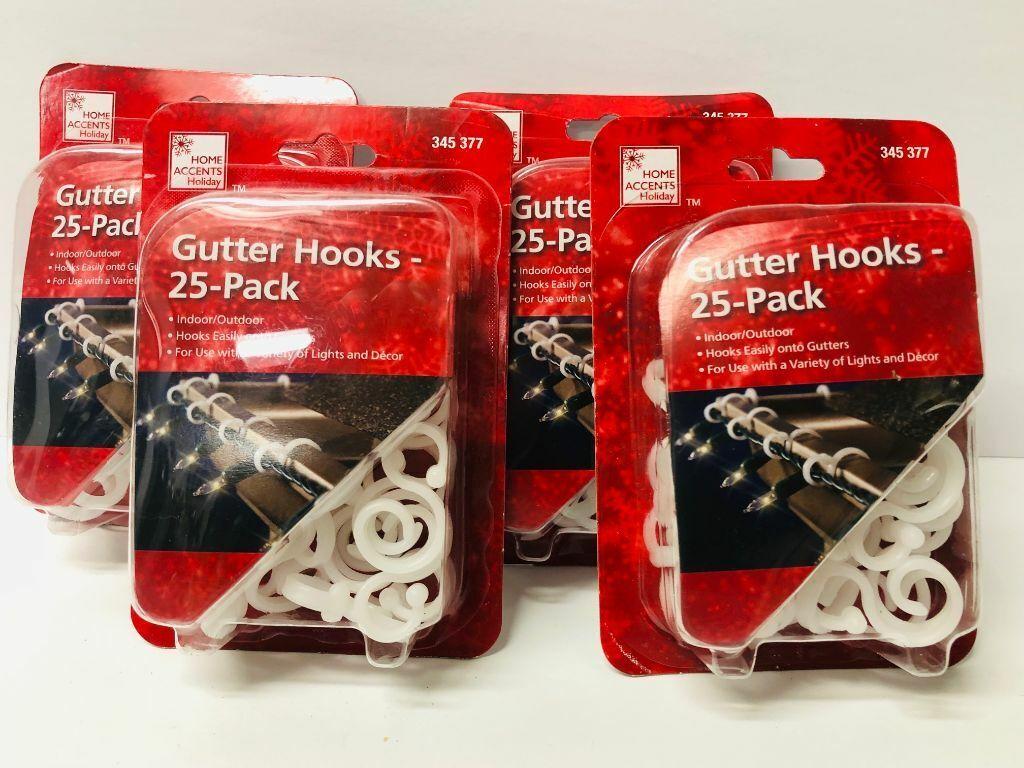 100 Christmas Light Clips Gutter Hooks For Outside Lights WH