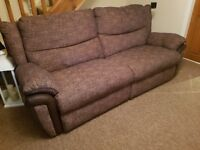 3 and 2 seater recliner lazyboy sofas **LIKE NEW**