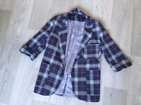 Topshop checkered outerwear size 10