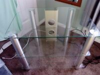 **GLASS TV UNIT/TABLE**