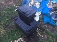 Pond filter boxes 2 no lights