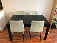 Extendable table and 4 chairs - 5 months old - Excellent condition (Save £300+!)