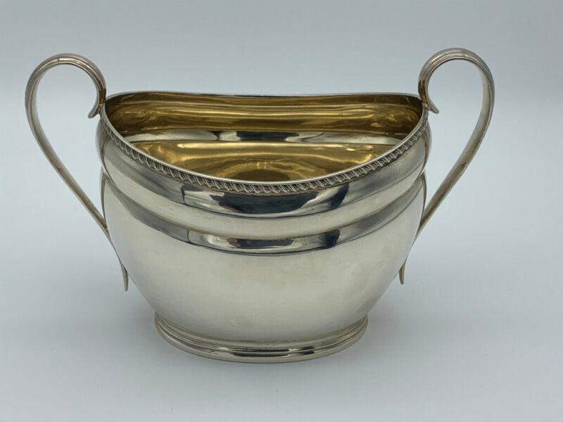 .925 Antique Sterling Sugar Bowl, 1904, 8.4 Troy oz, Atkin Brothers