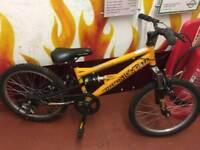 Apollo stomp dual suspension boys bike