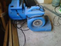 industrial drying fans x 2 - 240v - 4 speed