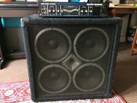 Hartke bass amplifier head (HA3500) and cabinet (VX 410)