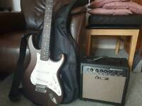 Cort Electric Guitar and Amp.