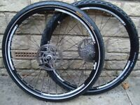 BONTRAGER 26 inch mtb BIKE WHEELS disc brake - Uk Delivery + Paypal ->
