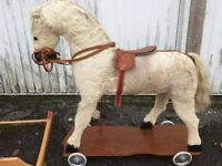 ANTIQUE GERMAN ROCKING HORSE