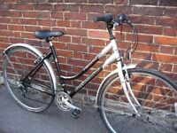"ladies reflex freedom hybrid bike 18"" frame 21 speed shimano gears fully serviced with lock"
