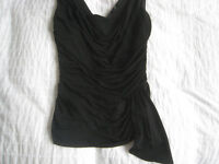 Smart Black Stretch Ruched Ladies Top from Coast – size 10. Never worn.