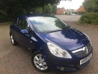 Vauxhall Corsa 1.4i Design in Metallic Blue 3 Door 2008
