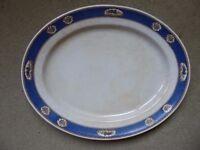very large serving plate, Longton, vintage