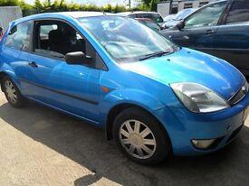 ford fiesta 1.4 tdci 3 door met blue damage repairable 2004