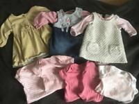 Baby girl outfits and vests bundle