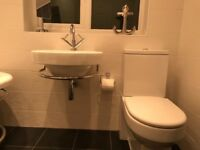 Bath 75x160 cams sink 54x52cms toilet 37x67cms ,never used + chrome taps as seen in pic