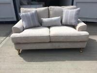 Beige fabric 2 seater sofa (New ex display)