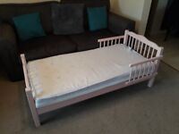 Pink Junior Bed for sale 140 x 69 cm (55 x 27 inches) includes Slumberland Mattress