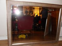 LOVELY LARGE GOLD MIRROR (92 X 118 CMS)