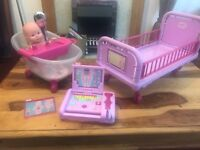 Baby Born Playset and Doll (not baby Born)