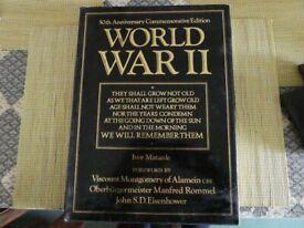 50th Anniversary World War 2 hardback book
