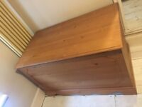 Extra large pine blanket box excellent condition