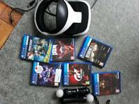 PS4 VR virtual reality headset and complete package