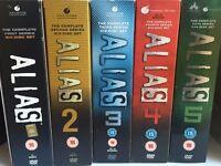 ALIAS TV SERIES DVD BOXSETS ALL SEASONS 1–5, SUPERB CONDITION £5 EACH