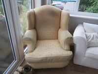 free must go today large old armchair and small sprung sofa bed -cant deliver